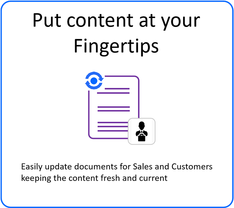 Put content at your fingertips